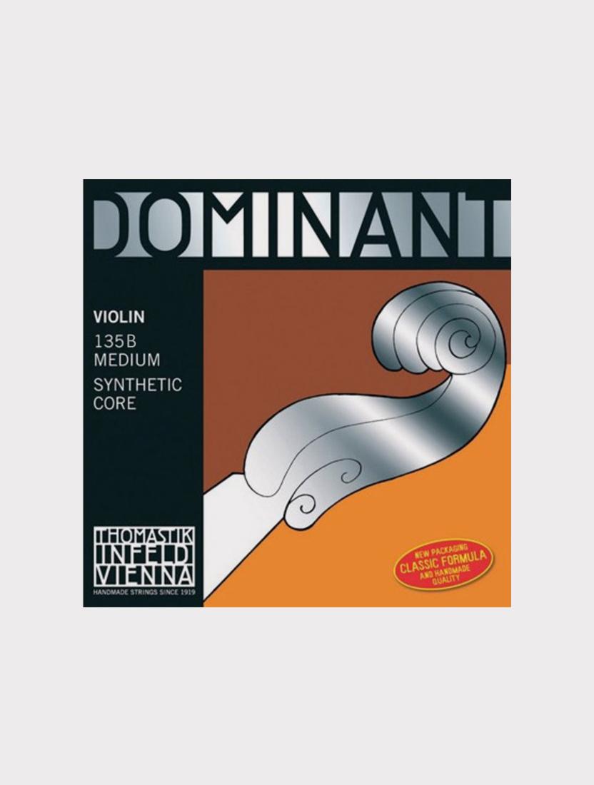 Комплект струн для скрипки Thomastik 135B Dominant размером 4/4, среднее натяжение