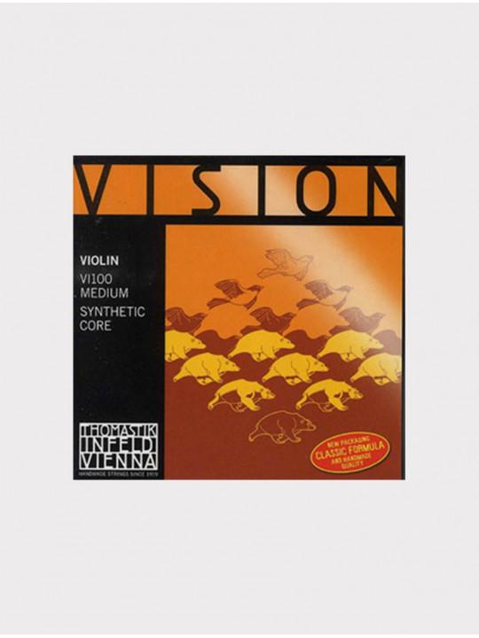 Комплект струн для скрипки Thomastik VI100 Vision размер 4/4, среднее натяжение