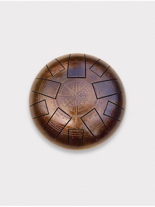 Глюкофон c гравировкой «Компас» Kosmosky KSY.22.e3 с квадратными лепестками