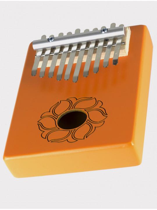 Калимба 10 нот резонаторная Мозеръ KMKr-1-OR Piastra, форма прямоугольная, оранжевая