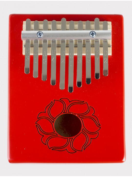 Калимба 10 нот резонаторная Мозеръ KMKr-1-RD Piastra, форма прямоугольная, красная