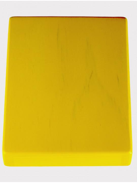 Калимба 10 нот резонаторная Мозеръ KMKr-1-YW Piastra, форма прямоугольная, желтая