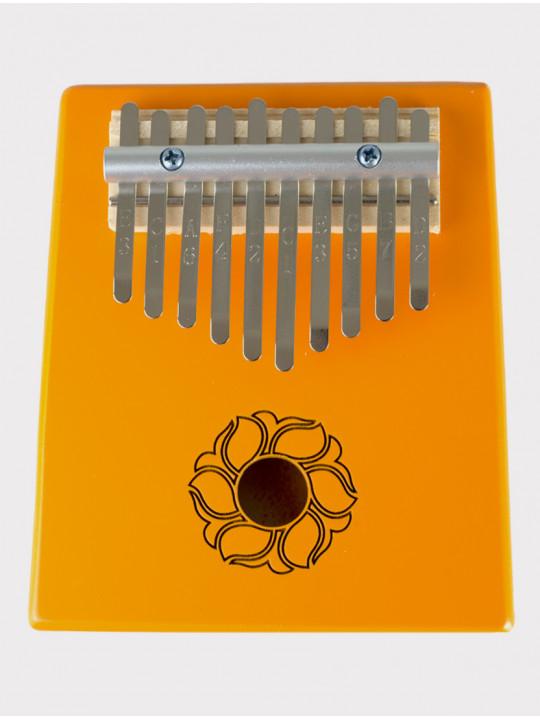 Калимба 10 нот резонаторная Мозеръ KMKr-2-OR Escudo, форма трапеция, оранжевая