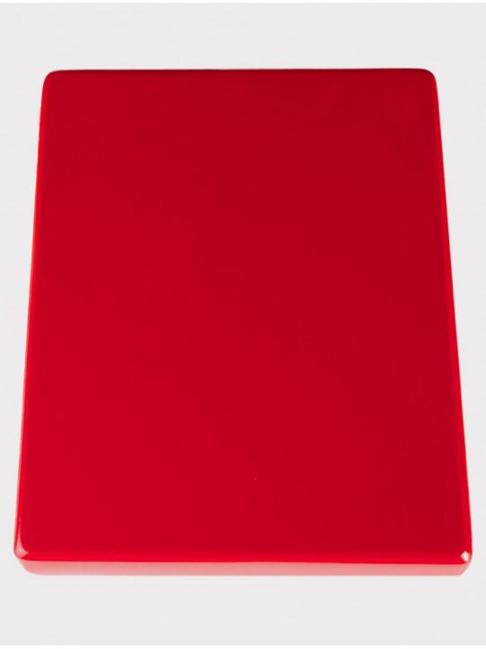 Калимба 10 нот резонаторная Мозеръ KMKr-2-RD Escudo, форма трапеция, красная