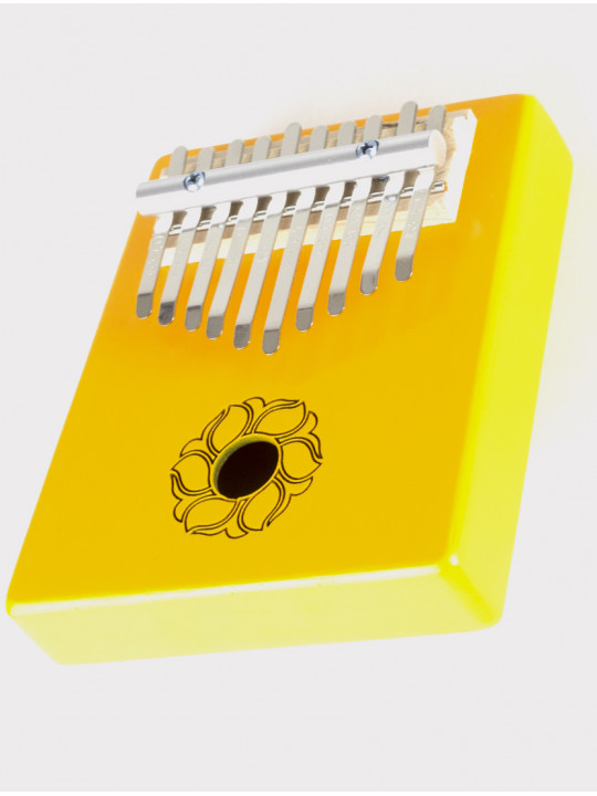 Калимба 10 нот резонаторная Мозеръ KMKr-2-YW Escudo, форма трапеция, желтая