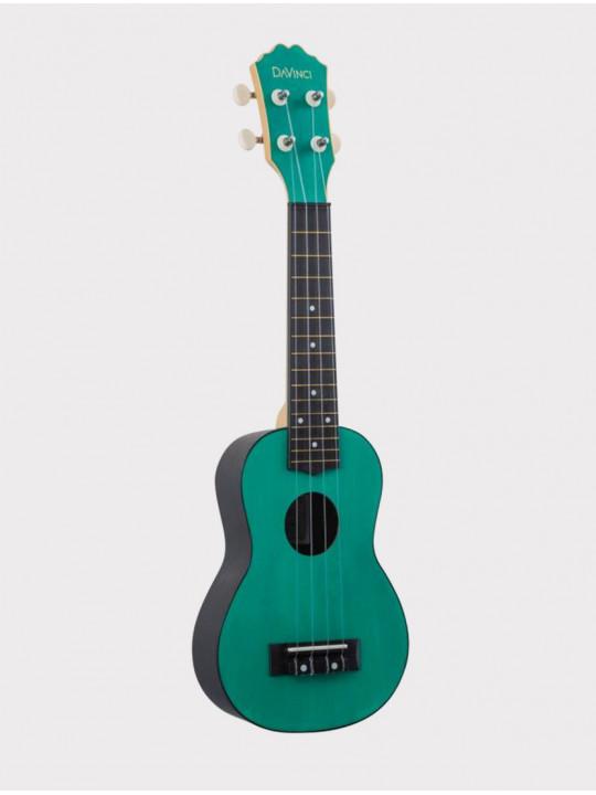 Укулеле DAVINCI VINS-10 EM, сопрано изумрудно-зеленая