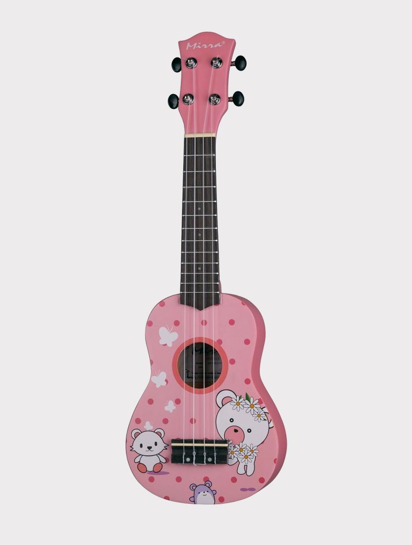 Укулеле Mirra UK-300-21-FX розовая в горошек Щенок и котенок Puppy