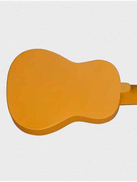 Укулеле Mirra UK-300-21-XL оранжевая с рисунком хиппи Peace