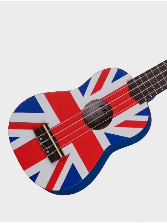 Укулеле Mirra UK-300-21-YG синяя Британский флаг