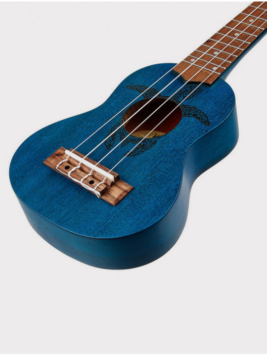 Укулеле Ortega Keiki K1-BL сопранино синяя с черепахой