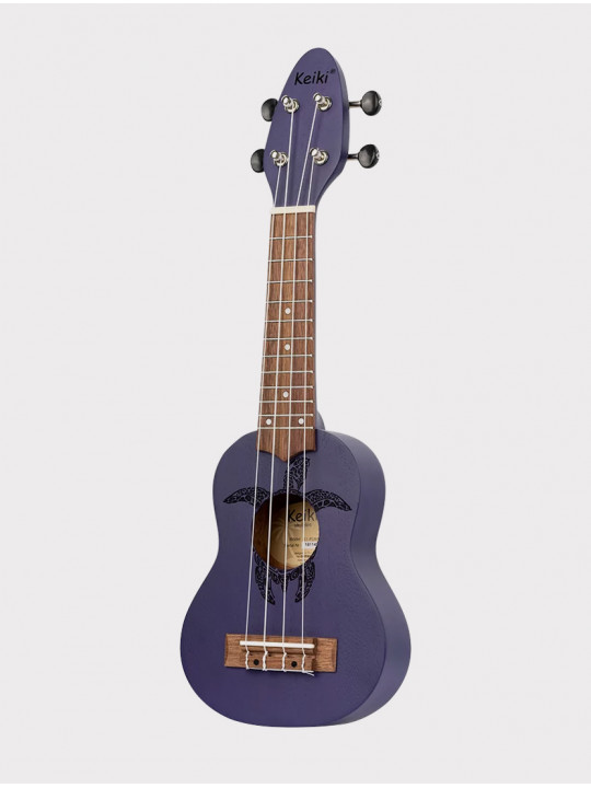 Укулеле Ortega Keiki K1-PUR сопранино фиолетовая с черепахой