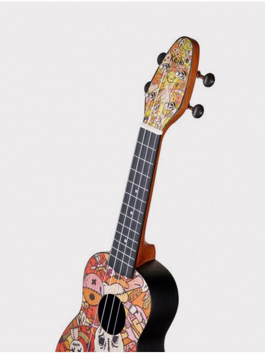 Укулеле Ortega Keiki K2-VP сопрано с чехлом и тюнером