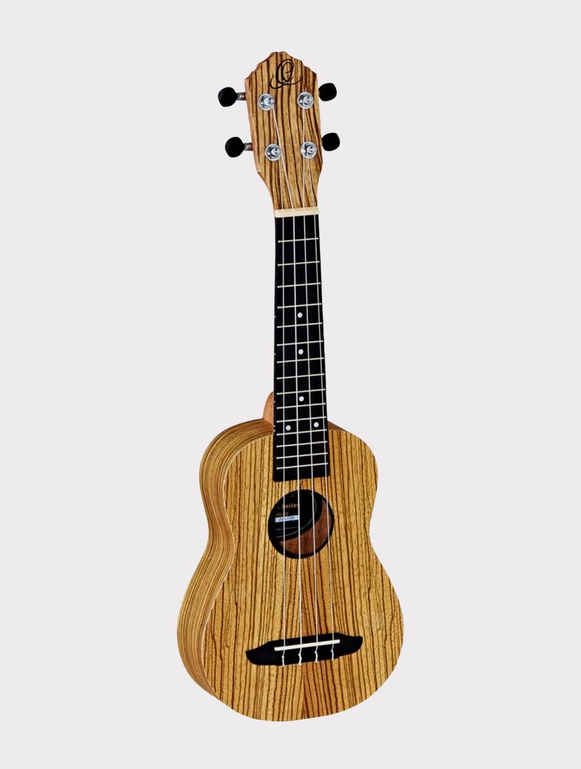 Укулеле Ortega RFU10Z сопрано зебрано с чехлом Timber series