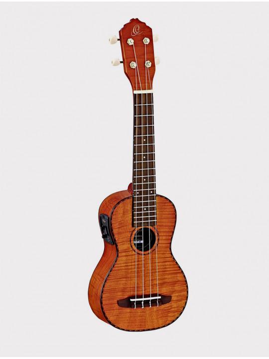 Укулеле Ortega RUE10FMH сопрано красно-коричневая со звукоснимателем, с чехлом Tiger Series