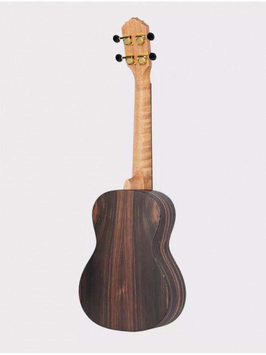 Укулеле Ortega RUEB-CC черно-коричневая концертная с чехлом Ebony Series