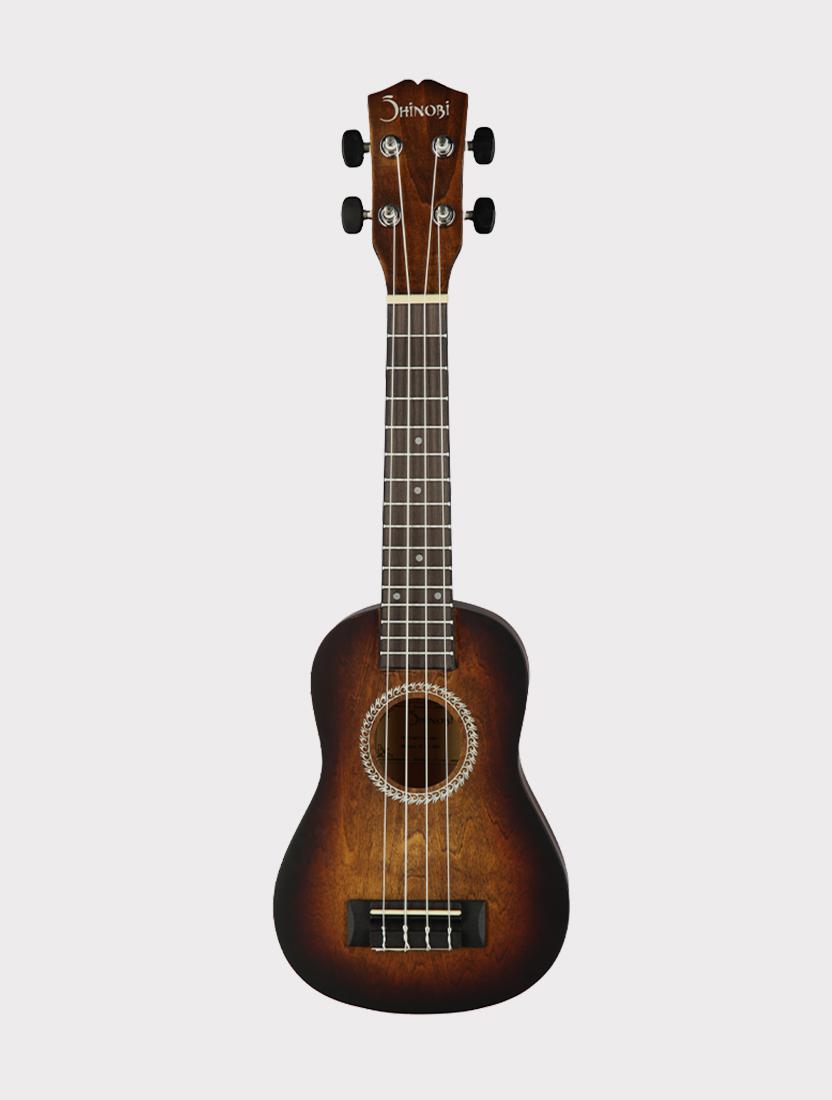 Укулеле Shinobi B-21/BR сопрано, черно-коричневая матовая
