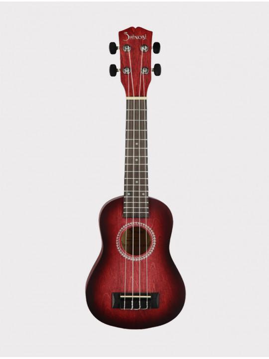 Укулеле Shinobi H-21/RD сопрано, темно-красная матовая