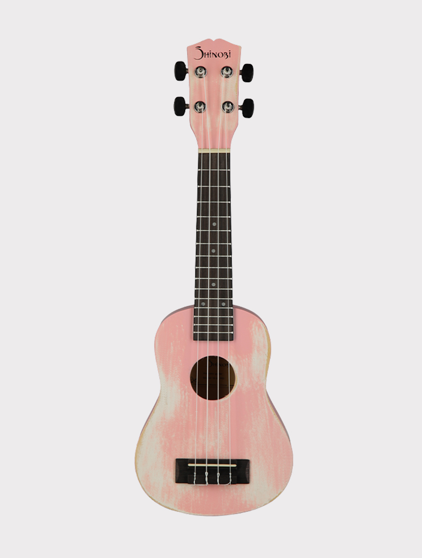 Укулеле Shinobi M-21/RD сопрано, светло-розовая матовая