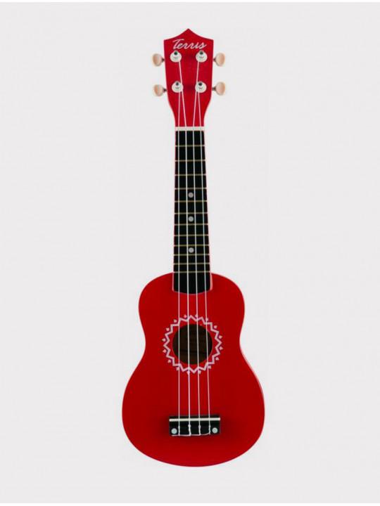 Укулеле TERRIS JUS-10 RD сопрано, красная