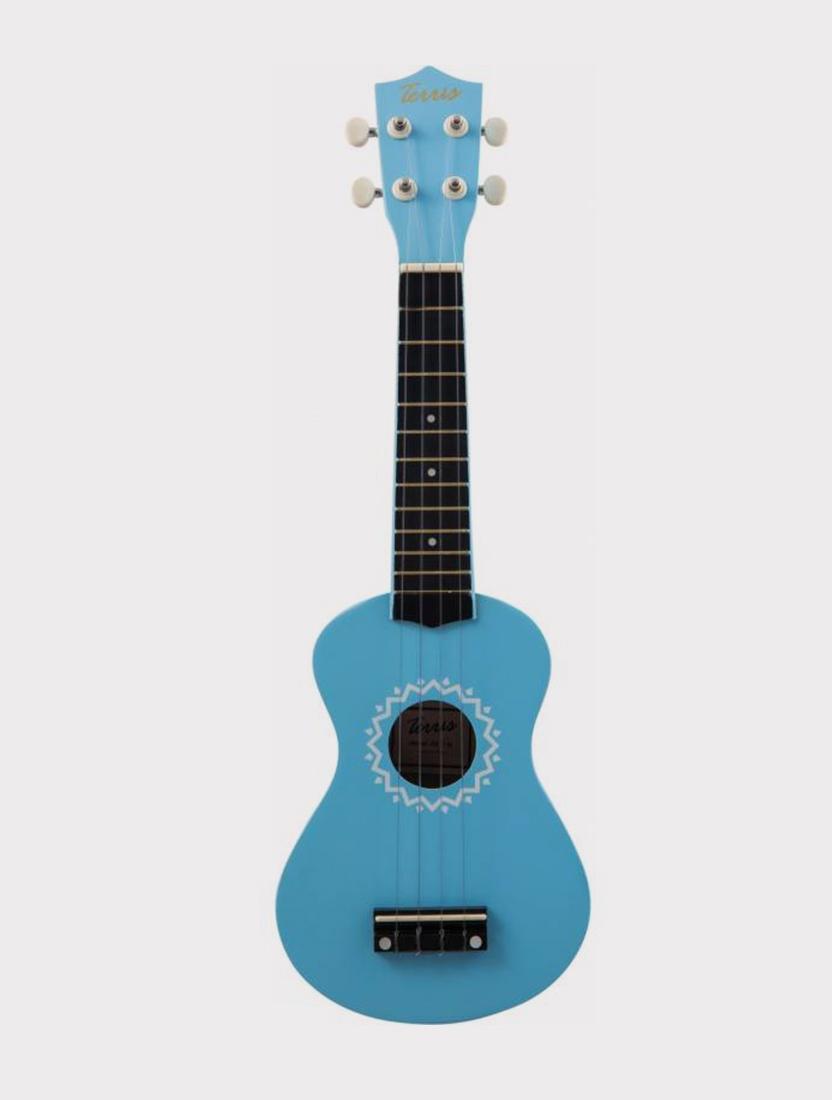 Укулеле TERRIS JUS-11 BL сопрано, синяя с орнаментом