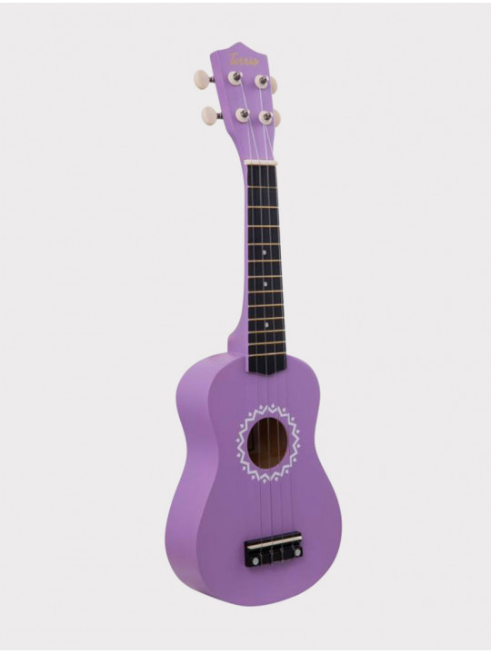 Укулеле TERRIS JUS-11 VIO сопрано, фиолетовая с орнаментом