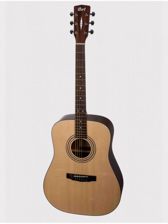 Акустическая гитара Cort EARTH PACK Earth Series + аксессуары, цвет натурально-желтый