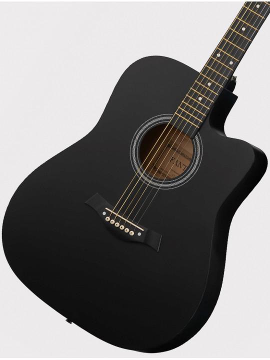 """Акустическая гитара Fante FT-221-BK, 41"""" с вырезом, черная"""