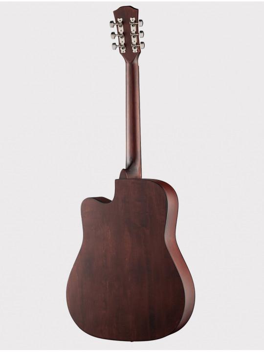 """Акустическая гитара Fante FT-221-N, 41"""" с вырезом, цвет натуральное дерево"""