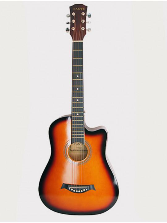 Акустическая гитара Fante FT-D38-3TS, желто-коричневый санберст, с вырезом