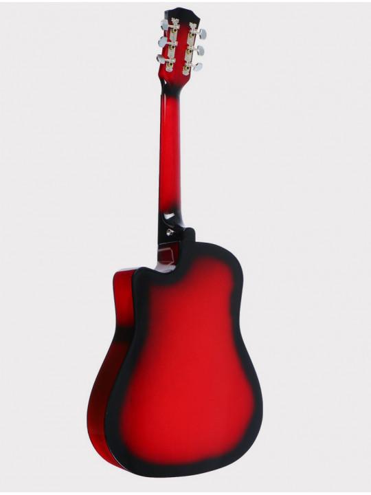 Акустическая гитара Fante FT-D38-RDS, красный санберст, с вырезом