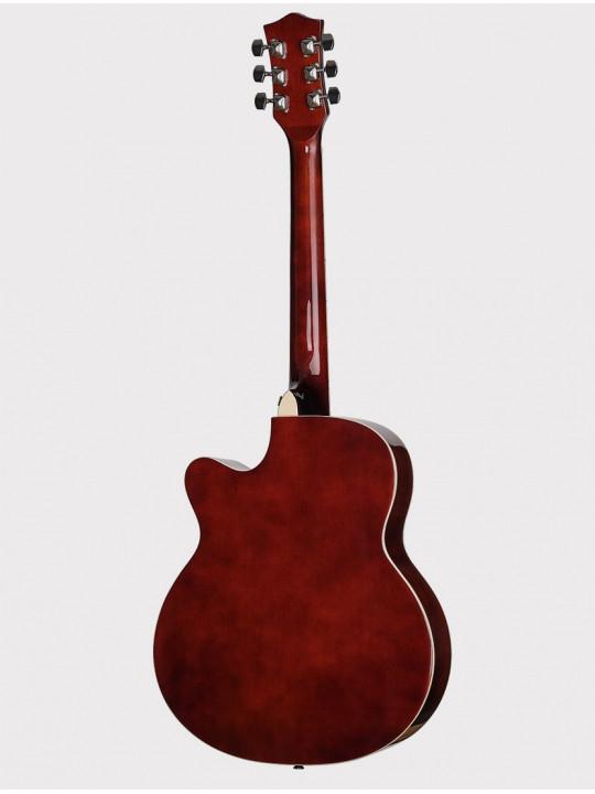Акустическая гитара Foix FFG-1039SB медовый санберст, с вырезом