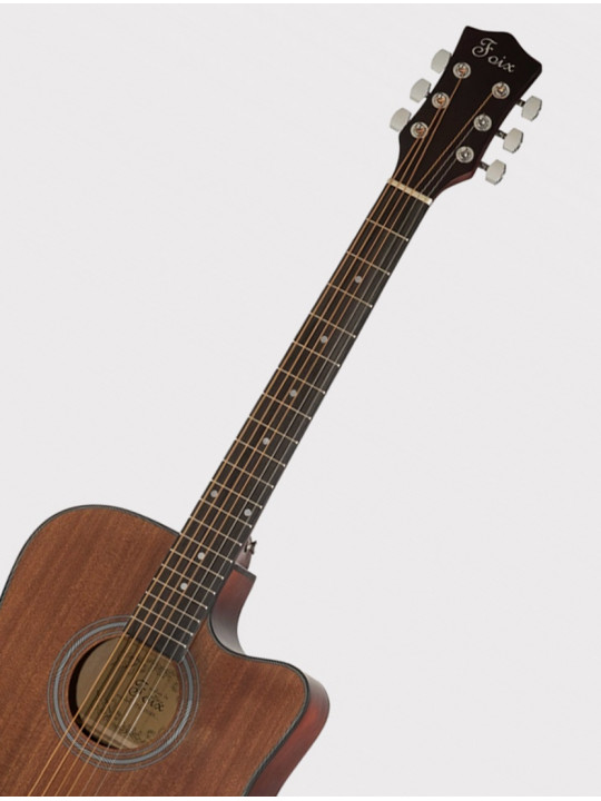 Акустическая гитара Foix FFG-1041MH с вырезом, натурально-коричневая