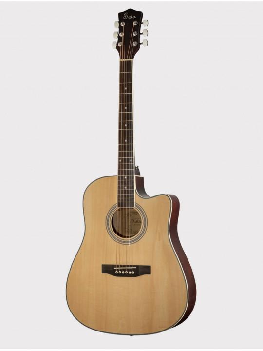 Акустическая гитара Foix FFG-1041NA, с вырезом, натурально-бежевая