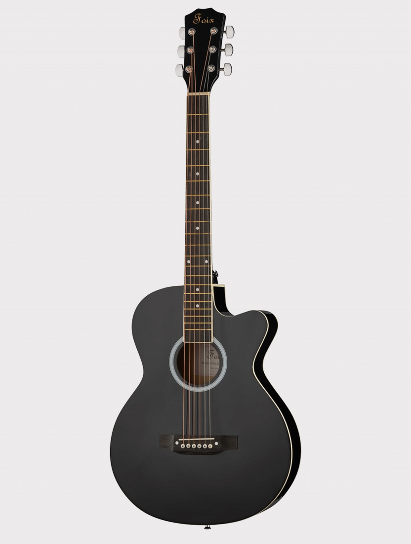 Акустическая гитара Foix FFG-2039C-BK с вырезом, черная