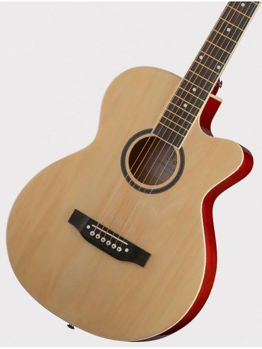 Акустическая гитара Foix FFG-2039C-NA с вырезом, натурально-бежевая