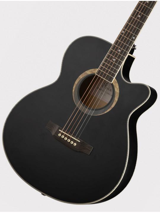 Акустическая гитара Foix FFG-2040C-BK с вырезом, черная