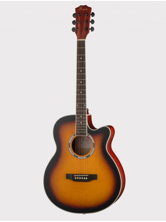 Акустическая гитара Foix FFG-2040C-SB с вырезом, медовый санберст