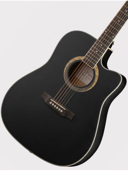 Акустическая гитара Foix FFG-2041C-BK с вырезом, черная