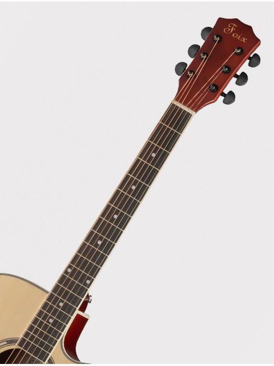 Акустическая гитара Foix FFG-2041C-NA с вырезом, натурально-бежевая