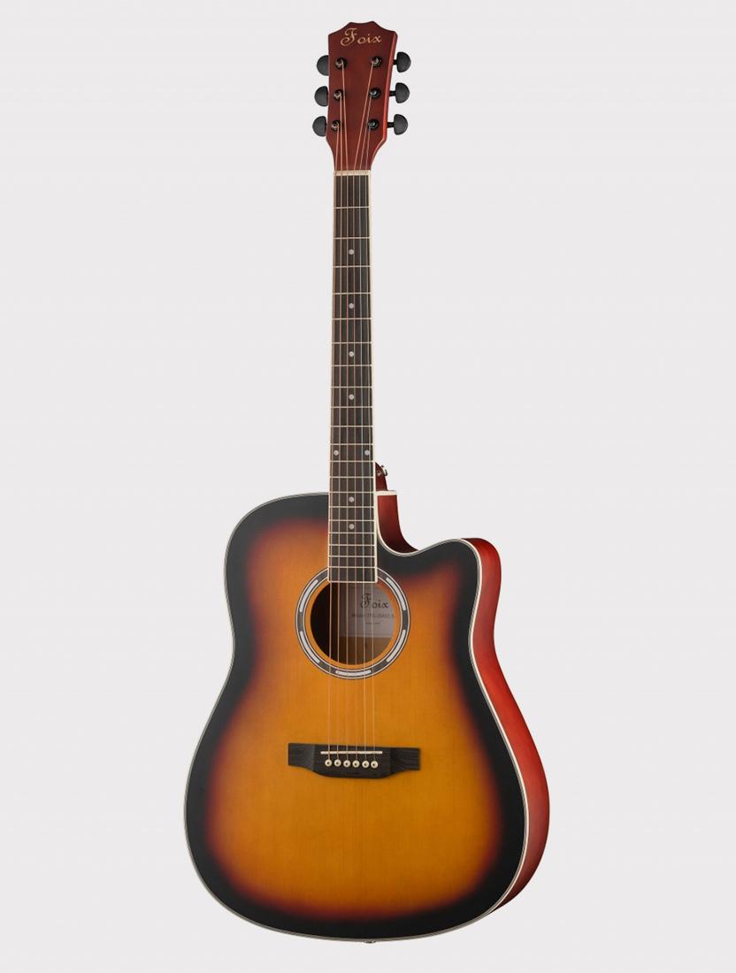 Акустическая гитара Foix FFG-2041C-SB с вырезом, медовый санберст