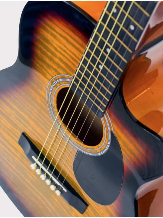 Акустическая гитара Homage LF-3800CT-SB тигровый желто-черный санберст