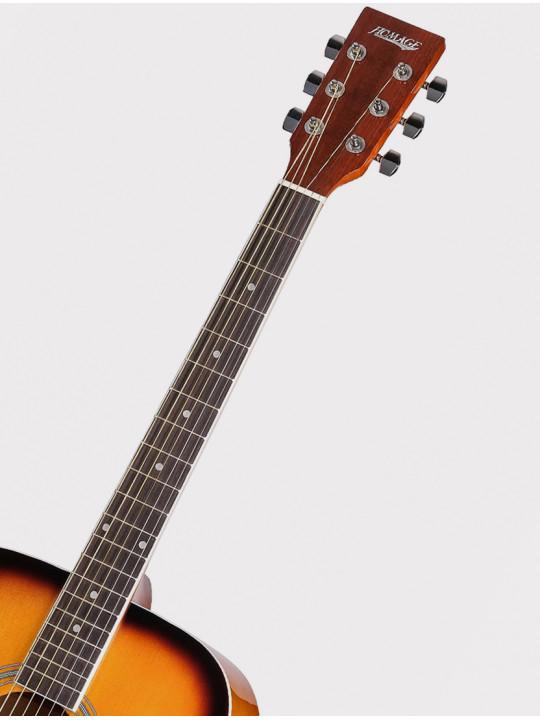 Акустическая гитара Homage LF-4110-SB желто-черный санберст
