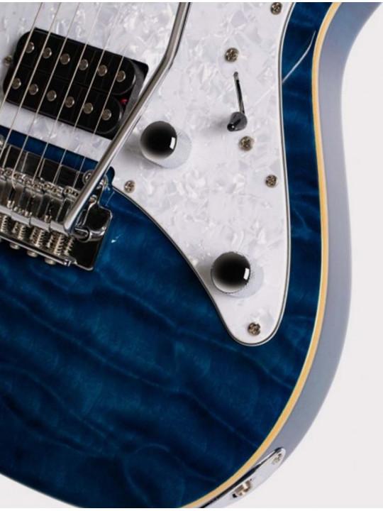 Электрогитара Cort G250DX-TB G Series, синяя c полосами