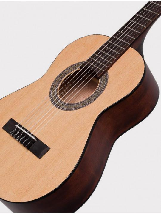 Классическая гитара Cort AC50-OP размер 1/2 с чехлом, матовая Classic Series