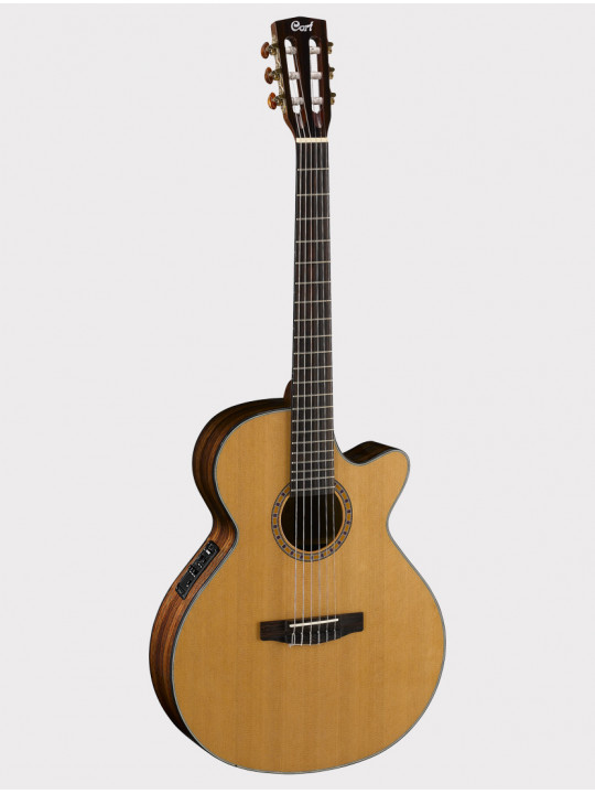 Классическая гитара Cort CEC7-NAT со звукоснимателем, с вырезом Classic Series