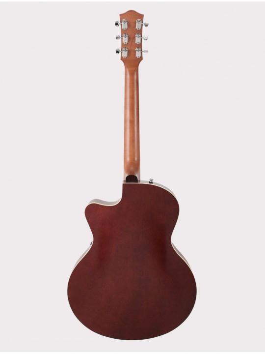 Полуакустическая гитара Godin 5th Avenue CW Kingpin II Burgundy с кейсом