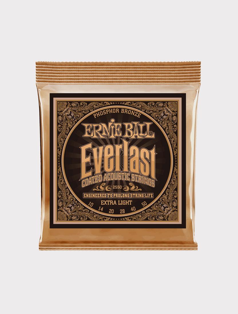 Струны для акустической гитары Ernie Ball 2550 толщина 10-50
