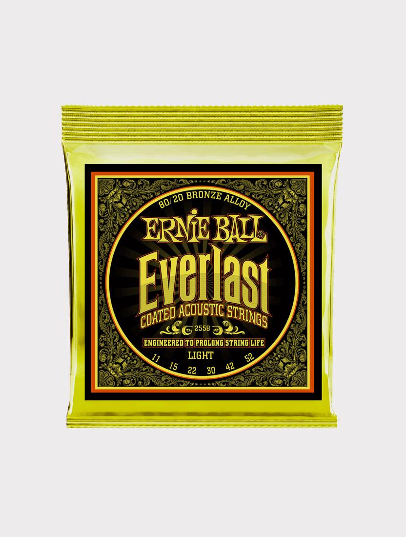 Струны для акустической гитары Ernie Ball 2558 толщина 11-52