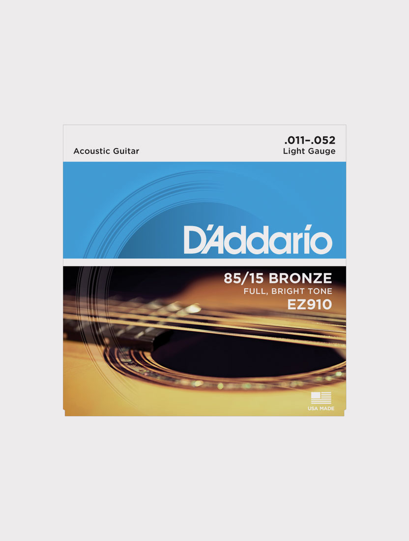 Струны для акустической гитары D`Addario EZ910 толщина 11-52