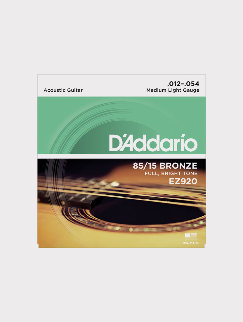 Струны для акустической гитары D`Addario EZ920 толщина 12-54